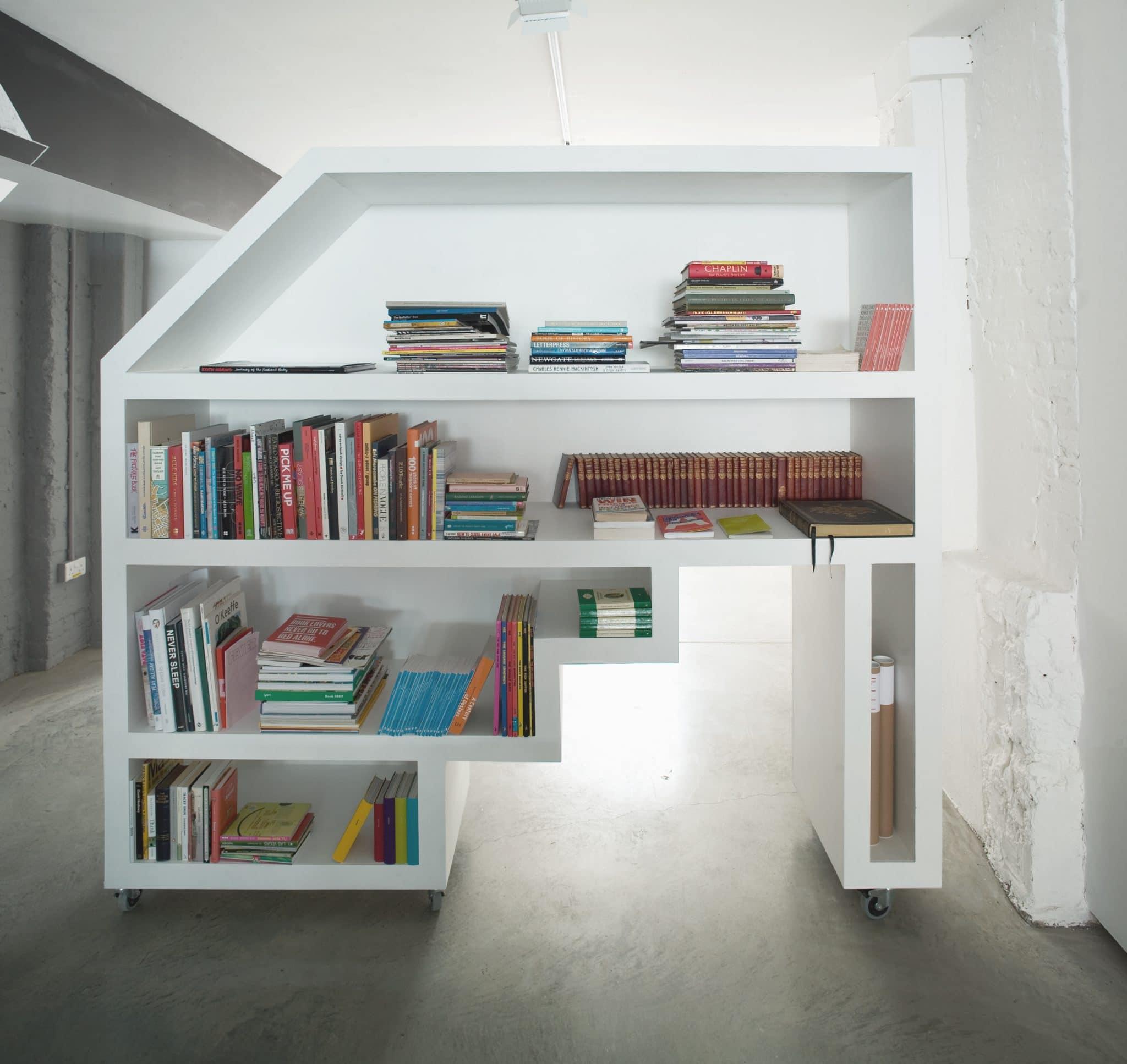 Shoreditch Office interior fit out by The Klassnik Corporation Bespoke Book case