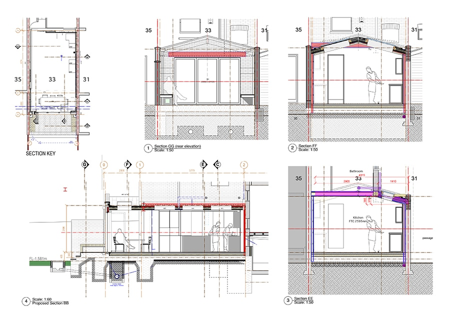 Planning drawings for rear extension
