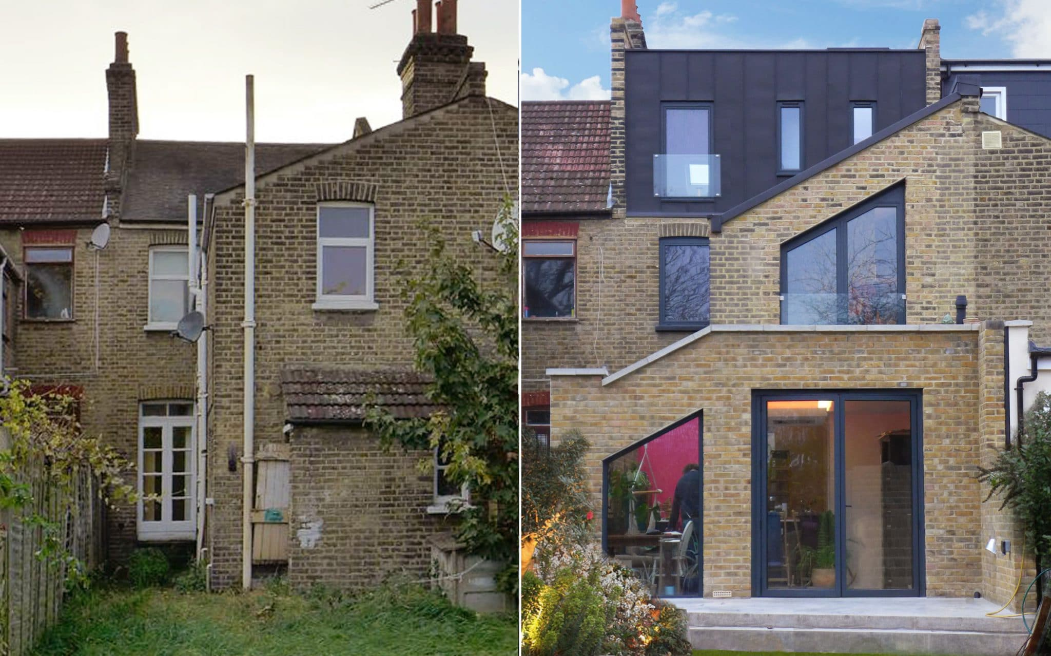 House extension before and after Lewisham, South London