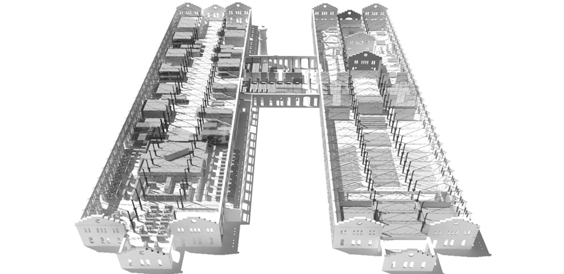 xhibition Design - OGR building plan, Turin