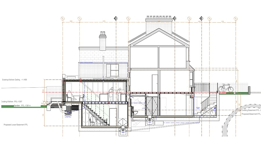Basement conversion Greenwich by Islington Architects Klassnik