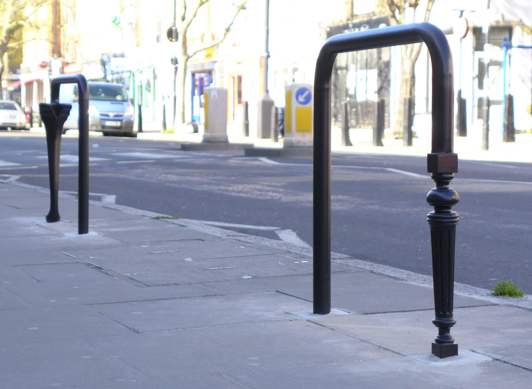 Bespoke cycle stands installed on Caledonian road
