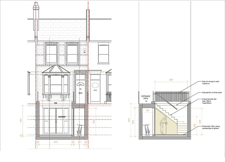 Lightwell design London terrace