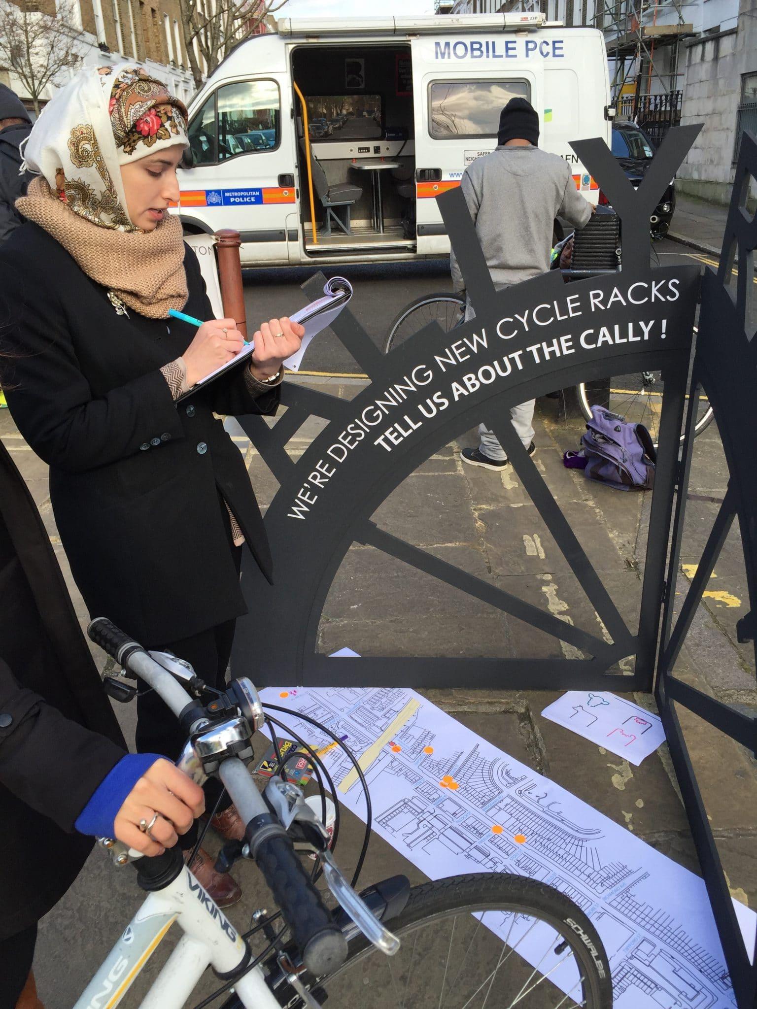 Workshop about bike rack design
