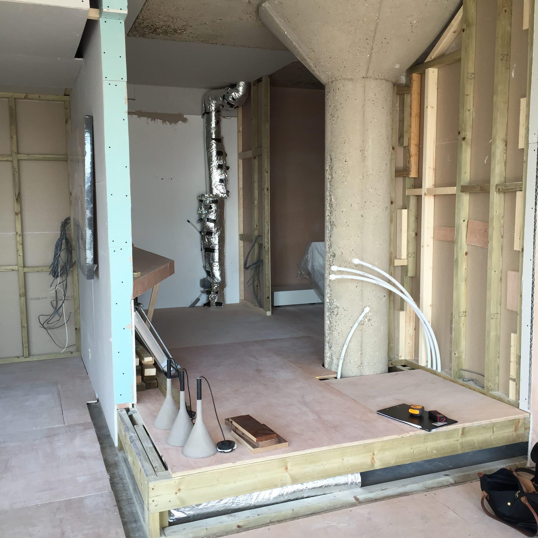 Bathroom build Clerkenwell London