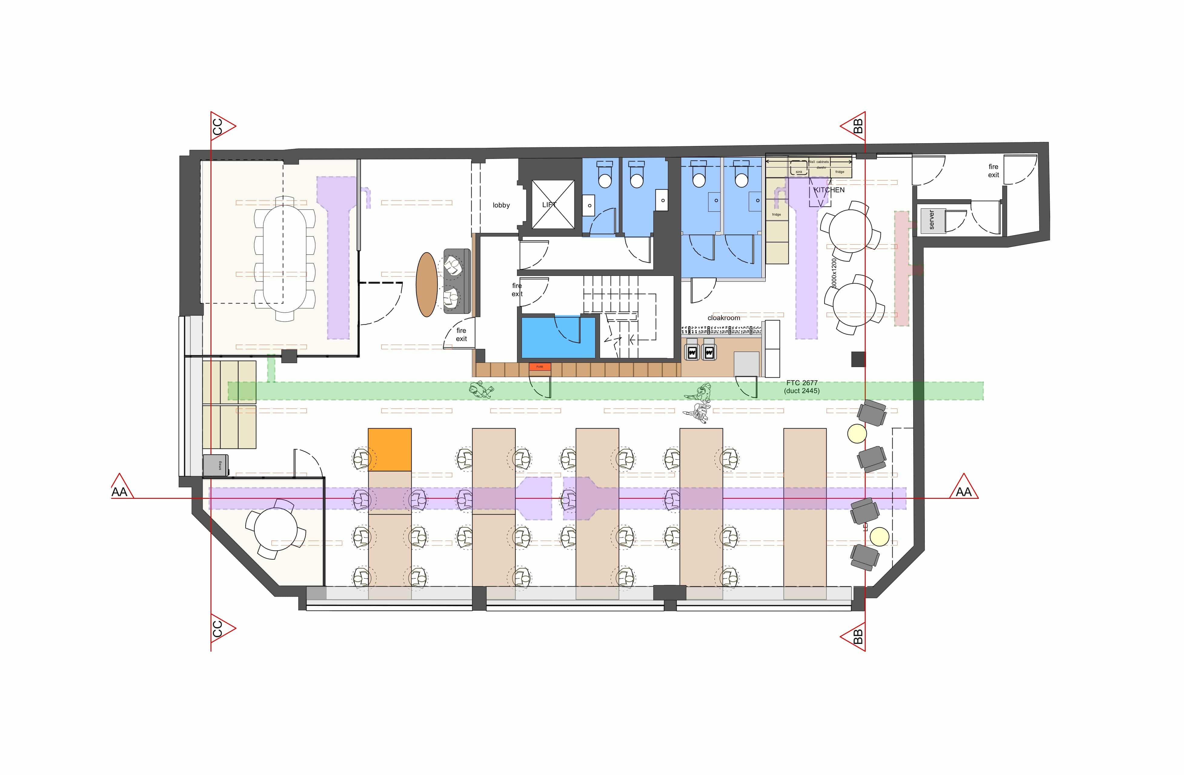 Office Fit Out Pd3_Desk Space Plan
