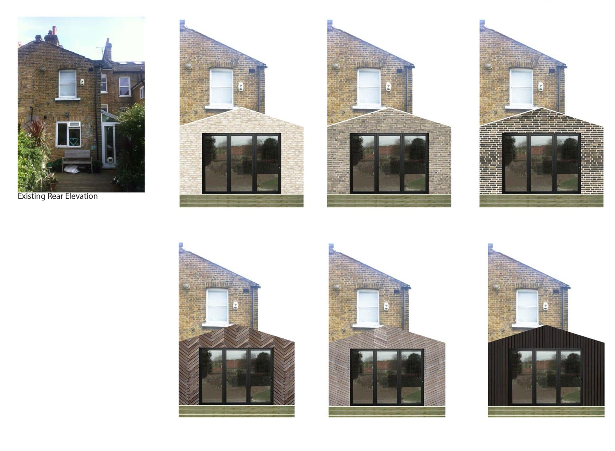 Rear Extension with bifolds Elevation Options
