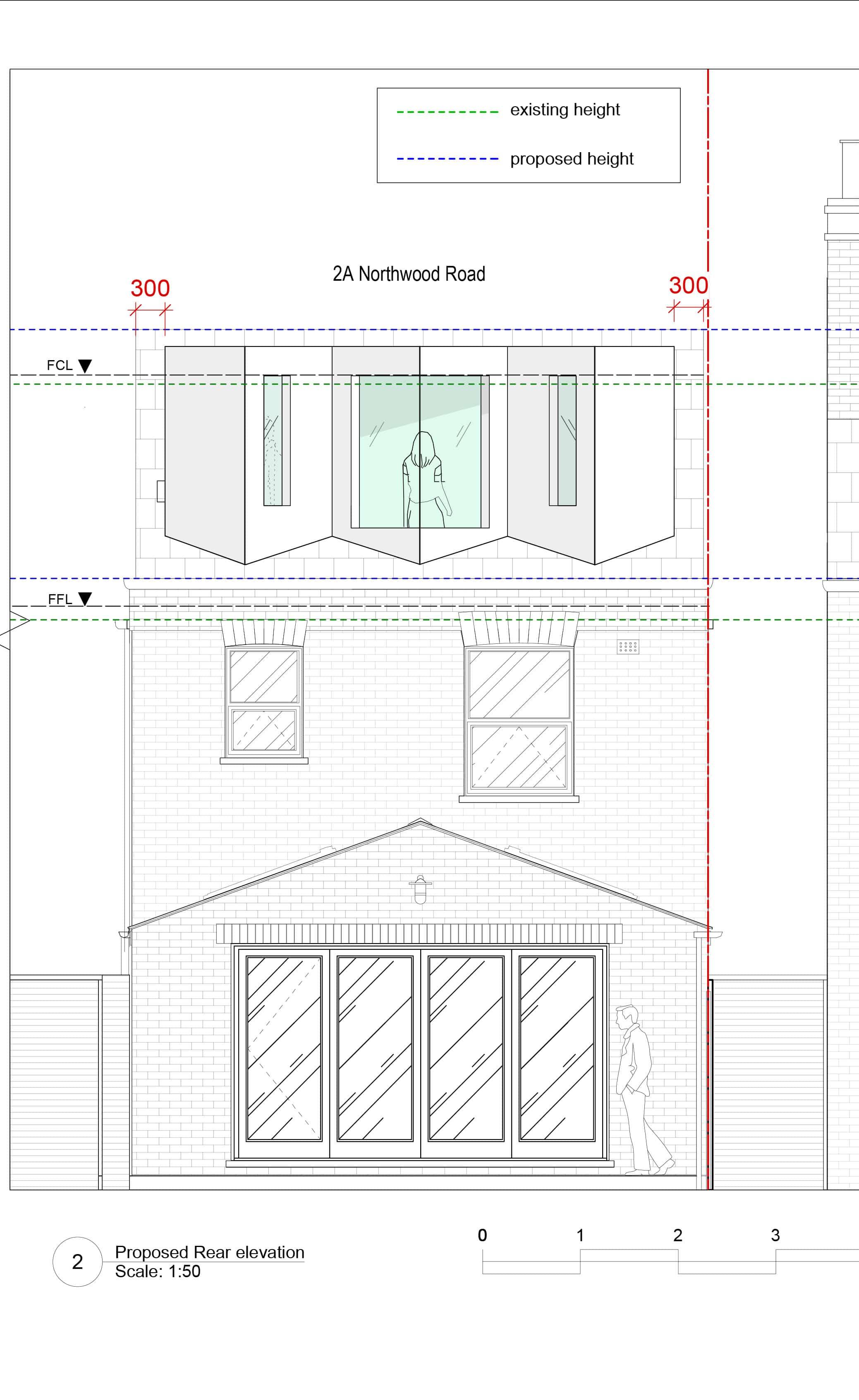 Dormer Loft rear elevation Lewisham planning