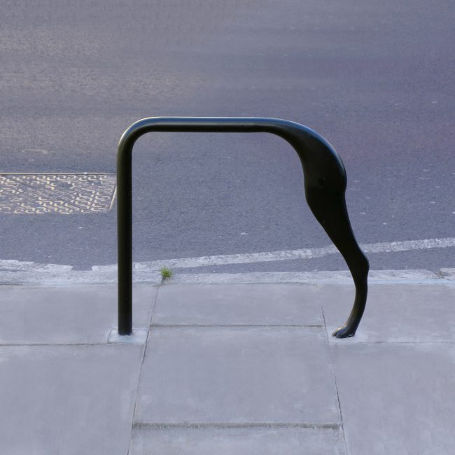 Public art bespoke cycle stand